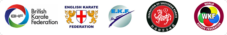 The British Karate Federation, Engligh Karate Federation, European Katate Federation, Federation of Shotokan Karate, World Karate Federation